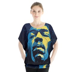 Gabz Jimi Hendrix Voodoo Child Poster Release From Dark Hall Mansion Blouse