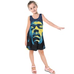 Gabz Jimi Hendrix Voodoo Child Poster Release From Dark Hall Mansion Kids  Sleeveless Dress