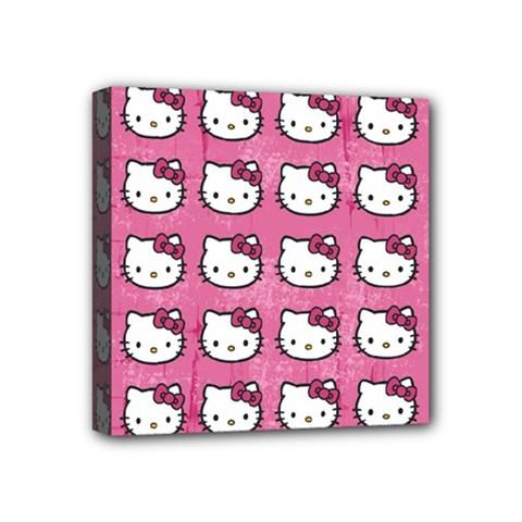 Hello Kitty Patterns Mini Canvas 4  x 4