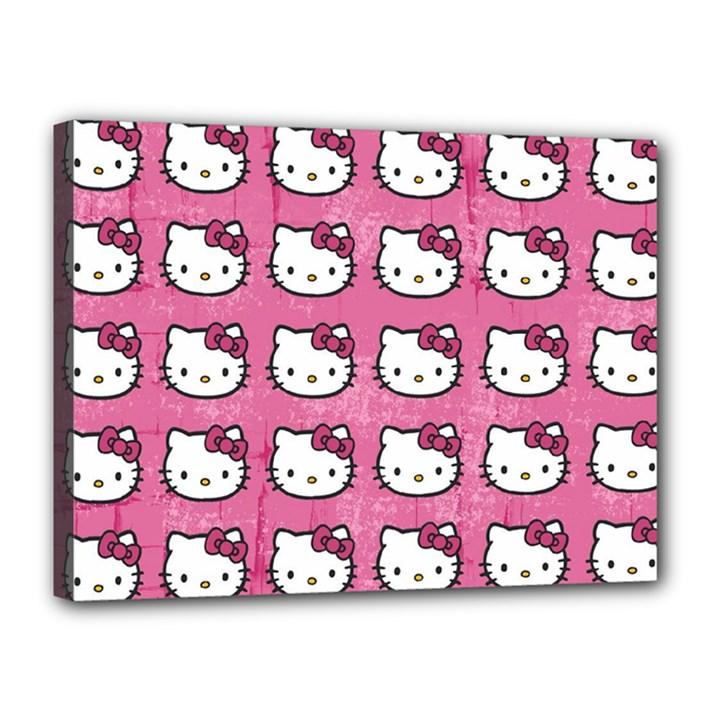 Hello Kitty Patterns Canvas 16  x 12