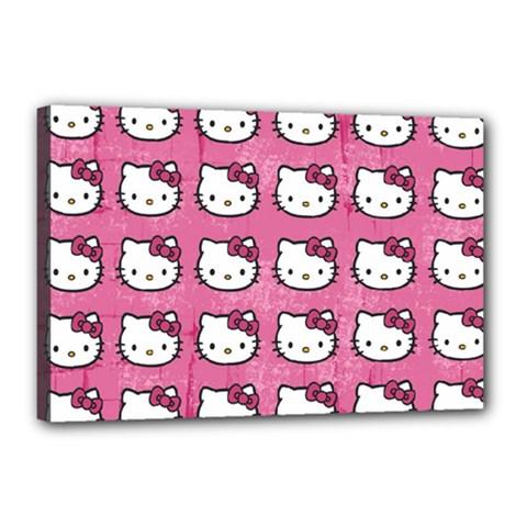 Hello Kitty Patterns Canvas 18  x 12