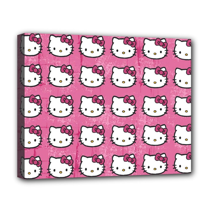 Hello Kitty Patterns Deluxe Canvas 20  x 16