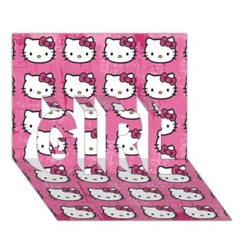 Hello Kitty Patterns GIRL 3D Greeting Card (7x5)