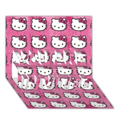 Hello Kitty Patterns YOU ARE INVITED 3D Greeting Card (7x5)