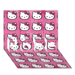 Hello Kitty Patterns HOPE 3D Greeting Card (7x5)