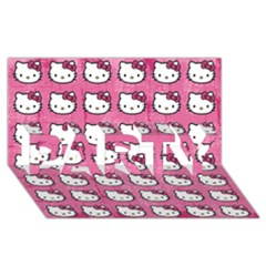 Hello Kitty Patterns PARTY 3D Greeting Card (8x4)