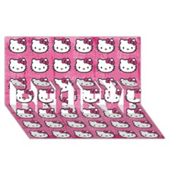 Hello Kitty Patterns BELIEVE 3D Greeting Card (8x4)