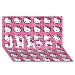 Hello Kitty Patterns HUGS 3D Greeting Card (8x4)