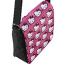 Hello Kitty Patterns Flap Messenger Bag (L)  View2