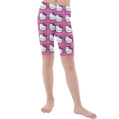 Hello Kitty Patterns Kids  Mid Length Swim Shorts