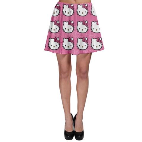 Hello Kitty Patterns Skater Skirt