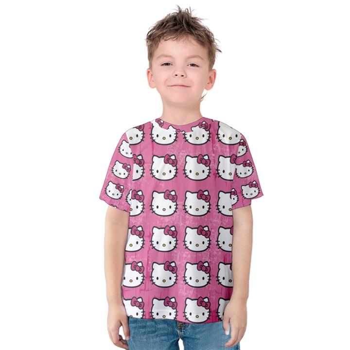 Hello Kitty Patterns Kids  Cotton Tee