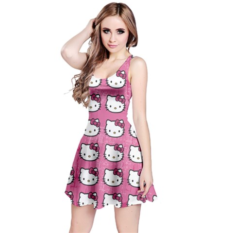 Hello Kitty Patterns Reversible Sleeveless Dress