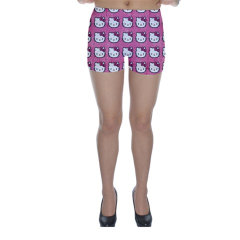 Hello Kitty Patterns Skinny Shorts