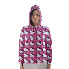 Hello Kitty Patterns Hooded Wind Breaker (Women)