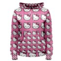 Hello Kitty Patterns Women s Pullover Hoodie View1