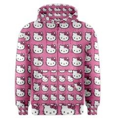 Hello Kitty Patterns Men s Zipper Hoodie