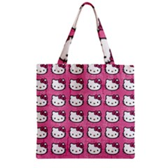 Hello Kitty Patterns Zipper Grocery Tote Bag