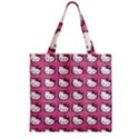 Hello Kitty Patterns Zipper Grocery Tote Bag View2