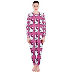 Hello Kitty Patterns OnePiece Jumpsuit (Ladies)