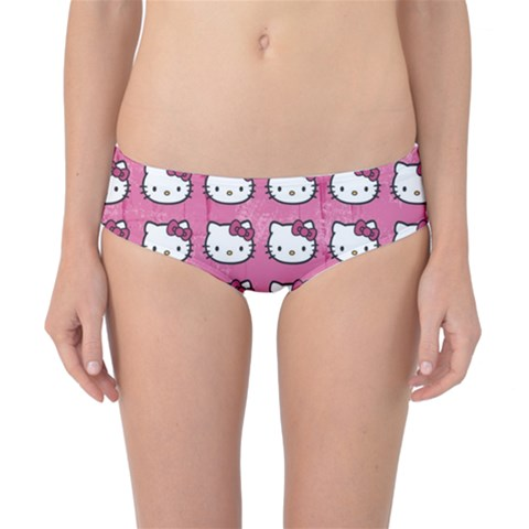 Hello Kitty Patterns Classic Bikini Bottoms