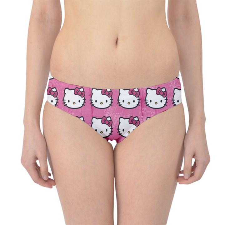 Hello Kitty Patterns Hipster Bikini Bottoms