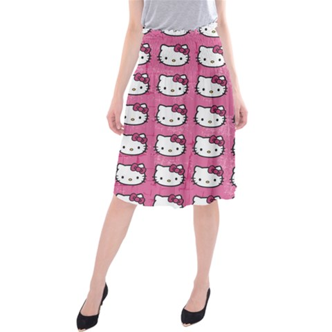 Hello Kitty Patterns Midi Beach Skirt