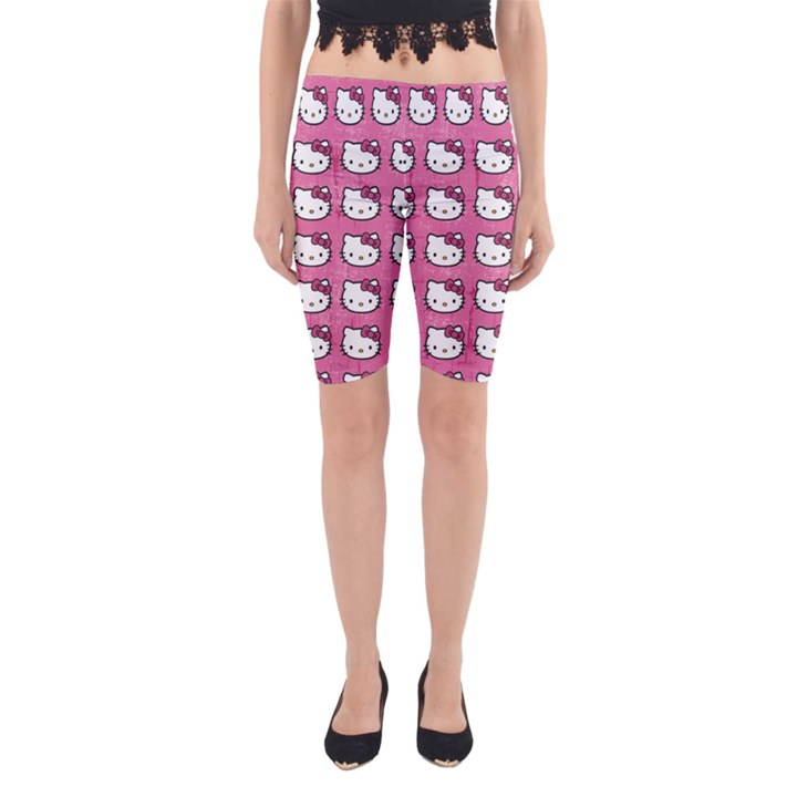 Hello Kitty Patterns Yoga Cropped Leggings