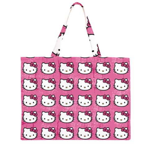 Hello Kitty Patterns Large Tote Bag