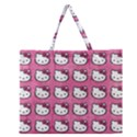 Hello Kitty Patterns Zipper Large Tote Bag View1