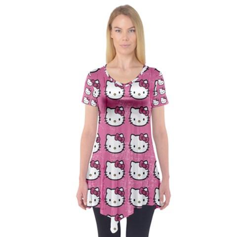 Hello Kitty Patterns Short Sleeve Tunic