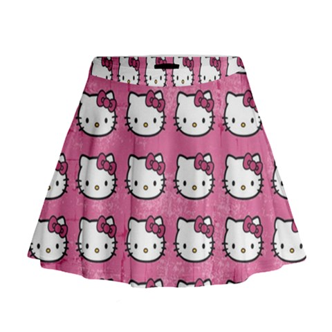 Hello Kitty Patterns Mini Flare Skirt