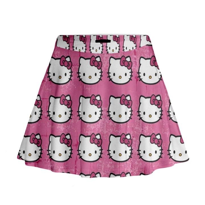 Hello Kitty Patterns Mini Flare Skirt