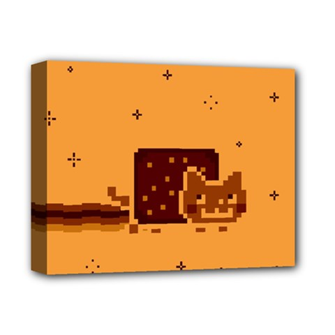 Nyan Cat Vintage Deluxe Canvas 14  X 11