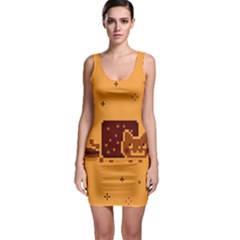 Nyan Cat Vintage Sleeveless Bodycon Dress