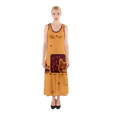 Nyan Cat Vintage Sleeveless Maxi Dress