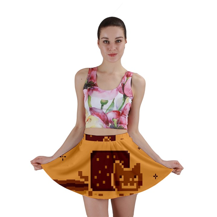 Nyan Cat Vintage Mini Skirt