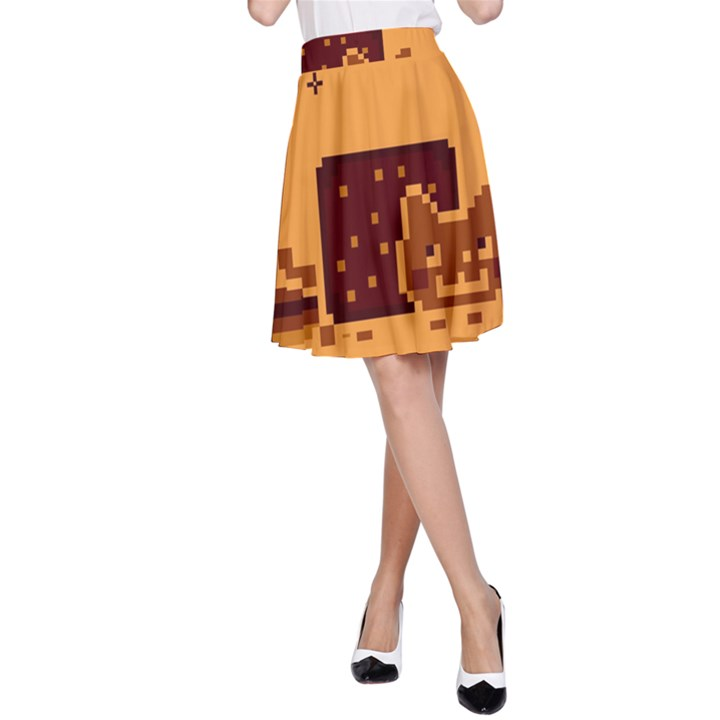 Nyan Cat Vintage A-Line Skirt
