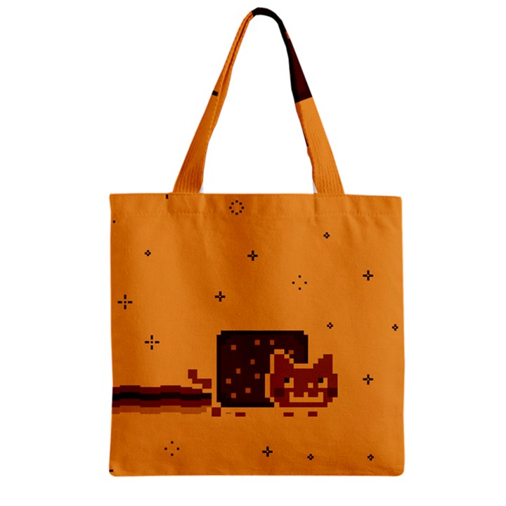 Nyan Cat Vintage Zipper Grocery Tote Bag