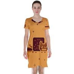 Nyan Cat Vintage Short Sleeve Nightdress