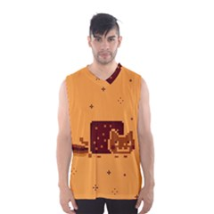 Nyan Cat Vintage Men s Basketball Tank Top
