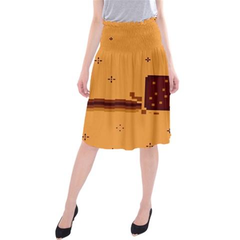 Nyan Cat Vintage Midi Beach Skirt