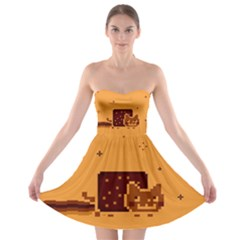 Nyan Cat Vintage Strapless Bra Top Dress