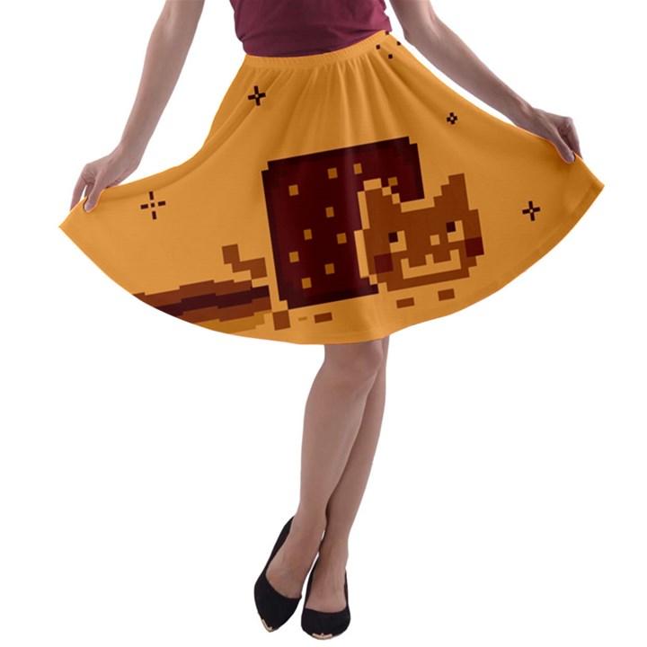 Nyan Cat Vintage A-line Skater Skirt
