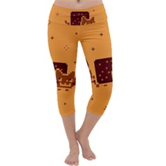 Nyan Cat Vintage Capri Yoga Leggings