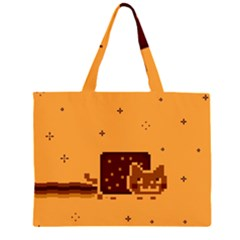 Nyan Cat Vintage Large Tote Bag