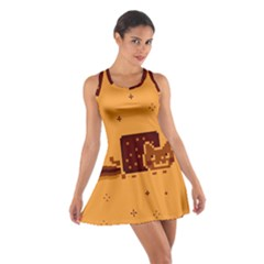 Nyan Cat Vintage Cotton Racerback Dress