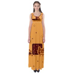 Nyan Cat Vintage Empire Waist Maxi Dress