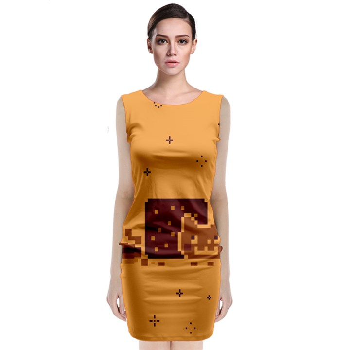 Nyan Cat Vintage Classic Sleeveless Midi Dress