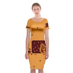 Nyan Cat Vintage Classic Short Sleeve Midi Dress
